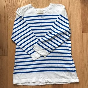 Zara Cotton Striped Long Sleevd Tee